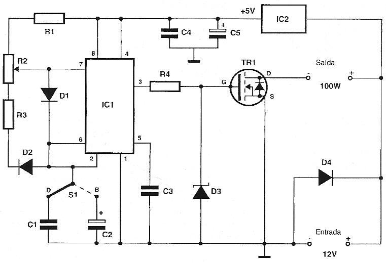 Variador de Tensão Contínua (Usando CI 555) Varios11-cir